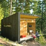 Отделку сборных домик в лесу