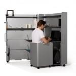 Небольшой офис в алюминиевый шкаф