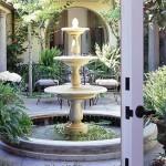 Большие садовые фонтаны