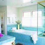 12 великолепных ванных комнат в синий