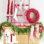 Классическая Рождество в красный и белый