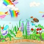 Красивые фрески для детской комнаты